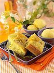 Semolina,orange and pistachio cake