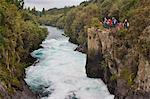 Tourists visiting Huka Falls, Taupo, Waikato Region, North Island, New Zealand, Pacific