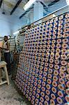 Silk threads in the looms, Varanasi, Uttar Pradesh, India, Asia