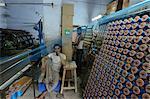 In the silk thread manufacturing factory, Vararnasi, Uttar Pradesh, India, Asia
