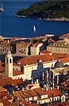 View over city, Dubrovnik, UNESCO World Heritage Site, Croatia, Europe