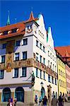 Historic building, Nuremberg, Bavaria, Germany, Europe