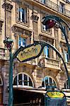 Metro sign, Paris, France, Europe