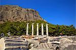 Temple of Athena, Ancient City of Priene, Anatolia, Turkey, Asia Minor, Eurasia