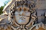 Head of Medusa, Temple of Apollo, Didyma, Anatolia, Turkey, Asia Minor, Eurasia