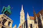 Matyas Church (Matthias Church) at Fisherman's Bastion, Budapest, Hungary, Europe