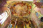 Interior of St. Michael's City Church, Budapest, Hungary, Europe