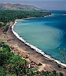 View of the coast of Bali near Candi Dasa, Bali, Indonesia, Southeast Asia, Asia