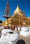 Shwezigon Paya, Nyaung U, Bagan, Myanmar (Burma), Asia
