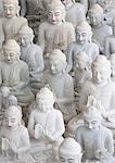 Marble Buddha images at a stone carver's in Amarapura, near Mandalay, Myanmar (Burma), Southeast Asia