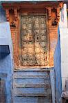 Wooden door, Jodhpur, Rajasthan, India, Asia