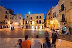 Town piazza, Bari, Puglia, Italy, Europe