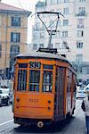 Europe, Italy, Lombardy, Milan, city tram