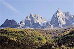 Aiguilles de Chamonix peaks, Chamonix, Haute-Savoie, French Alps, France, Europe
