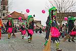 Fasnact spring carnival parade, Weil am Rhein, Baden-Wurttemberg, Germany, Europe