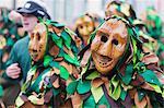 Fasnact spring carnival parade, Weil am Rhein, Germany, Europe