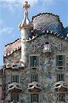 Casa Batllo, a house designed by Antonio Gaudi and admired by Salvador Dali, UNESCO World Heritage Site, Passeig de Gracia, Barcelona, Catalunya, Spain, Europe