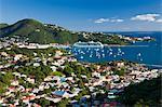 Elevated view over Charlotte Amalie, St. Thomas, U.S. Virgin Islands, Leeward Islands, West Indies, Caribbean, Central America