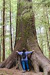 Hiking in Naikoon Provincial Park, Haida Gwaii (Queen Charlotte Islands), British Columbia, Canada, North America