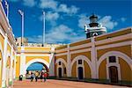 Castle San Felipe del Morro, UNESCO World Heritage Site, San Juan, Puerto Rico, West Indies, Caribbean, Central America