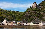 Castle Gutenfels above Kaub in the Rhine valley, Rhineland-Palatinate, Germany, Europe