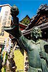 Statue in the Kiyomizu-dera Buddhist Temple, UNESCO World Heritage Site, Kyoto, Japan, Asia