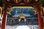 Entrance to the Lemitsu Mausoleum (Taiyuinbyo), UNESCO World Heritage Site, Nikko, Kanto, Japan