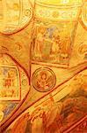 Ninth-century Christian frescoes, crypt ceiling, the Basilica of Santa Maria Assunta, Aquileia, Friuli-Venezia Giulia, Italy, Europe