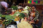 Vegetable market, Bogyoke Aung San market, Yangon (Rangoon), Myanmar (Burma), Asia