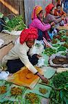 Market day, Paya Phaung Daw Oo, Inle Lake, Shan State, Myanmar (Burma), Asia