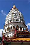 Ban Po pagoda, Kek Lok Si Temple, Crane Hill, Georgetown, Pulau Penang, Malaysia, Southeast Asia, Asia
