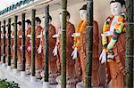 Statues of Buddha's inside the Kek Lok Si Temple, Crane Hill, Georgetown, Pulau Penang, Malaysia, Southeast Asia, Asia