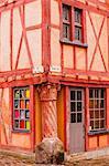 La Maison du Pilier Rouge in Le Mans, Sarthe, Pays de la Loire, France, Europe