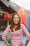 Portrait Of Smiling Young Woman In Houhai, Beijing