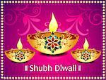 Diwali background With flroal Vector illustration