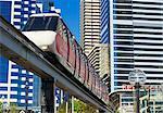 Sydney monorail and train, Sydney, Australia