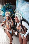 Samba dancers taking a break, Rio De Janeiro, Brazil