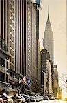 New York, E 42 St and Chrysler Building
