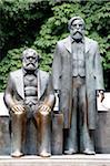 Bronze Statue of Marx and Engels, Marx-Engels Forum, Alexanderplatz, Mitte, Berlin, Germany