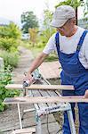 Man doing carpentry work