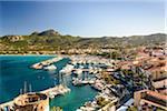 Scenic view of the port of Calvi from the Citadel, Calvi, Balagne, Corsica, France