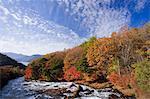 Ryuzu Falls in Autumn, Tochigi, Japan