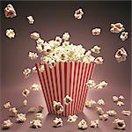 Popcorn, computer artwork.