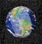 Human impact on the environment, conceptual computer artwork.