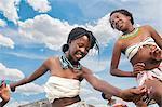 Adolescent Xhosa girls dancing