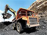 Loading coal from coal pit, Palesa Coal Mine