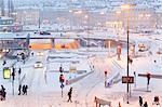 Winter city, Slussen, Sodermalm, Stockholm, Sweden