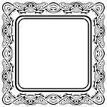 Black frame with ornamental border on white background