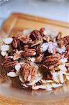 Pecan, Salt & Almond Mix in a glass bowl