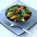 Bowl Of Sausage And Orange Salad